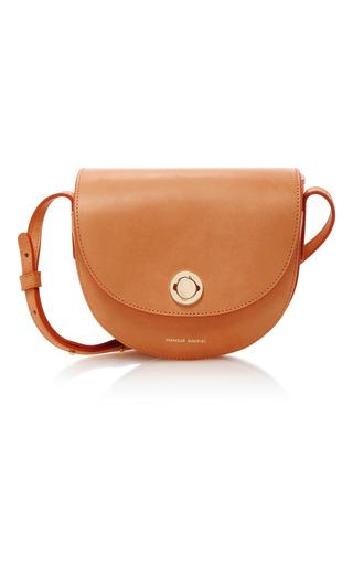 Medium mansur gavriel nude mini saddle leather shoulder bag
