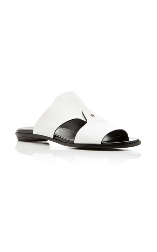 Medium proenza schouler white leather slide