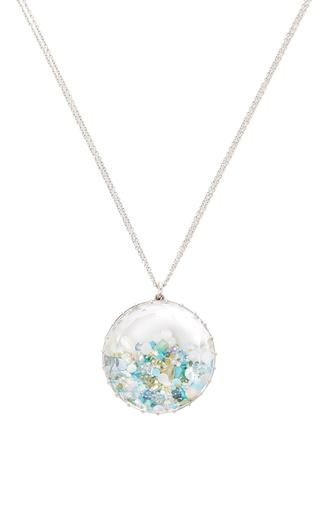 Medium renee lewis blue opals aquamarine turquoise white and colored diamond shake necklace
