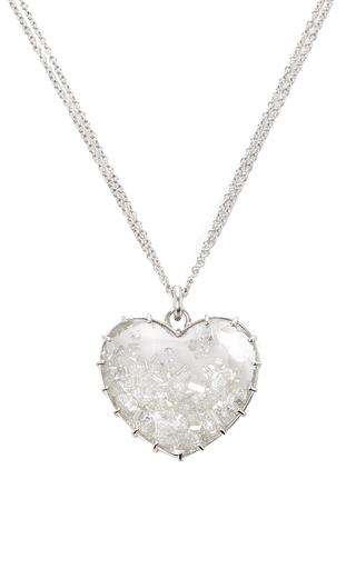 Medium renee lewis white white diamonds heart shake necklace