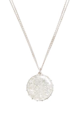 Medium renee lewis white white diamonds shake necklace