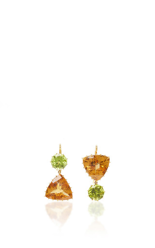 Medium renee lewis green citrine and peridot earrings