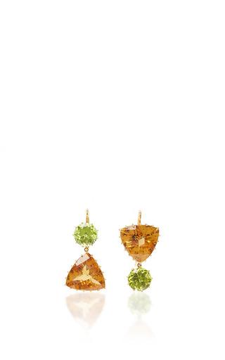 Medium renee lewis green citrine and peridot earrings