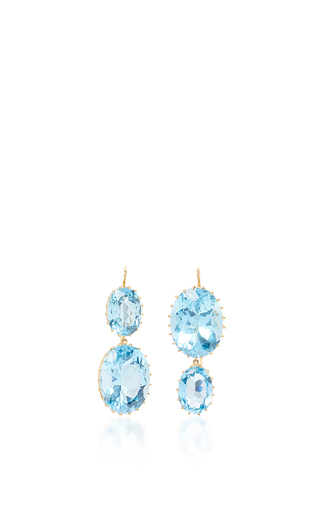 Medium renee lewis blue blue topaz earrings