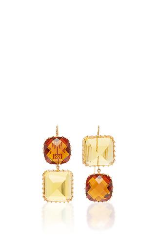 Medium renee lewis red red and golden citrine earrings