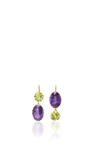 Medium renee lewis purple amethyst and peridot earrings