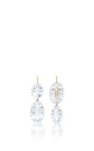 Medium renee lewis blue aquamarine earrings