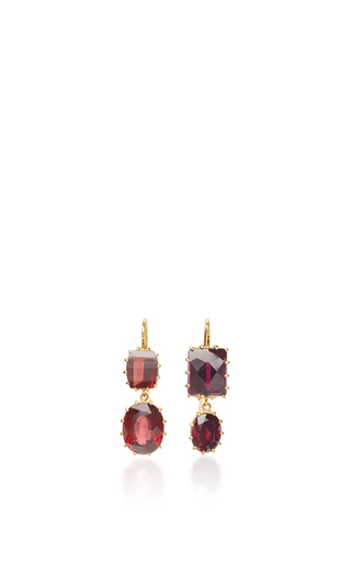 Medium renee lewis red gold garnet earrings