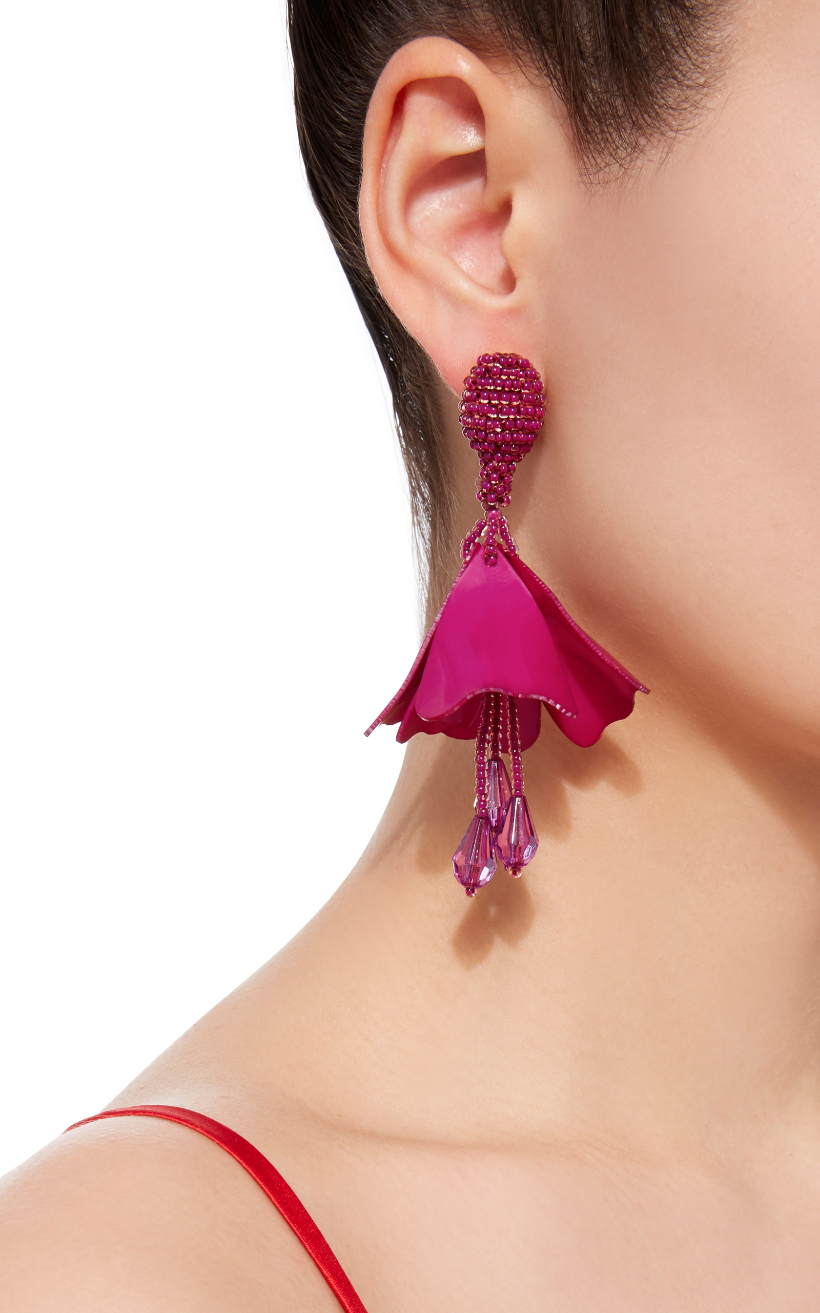back earring and pin feminine large earrings flower
