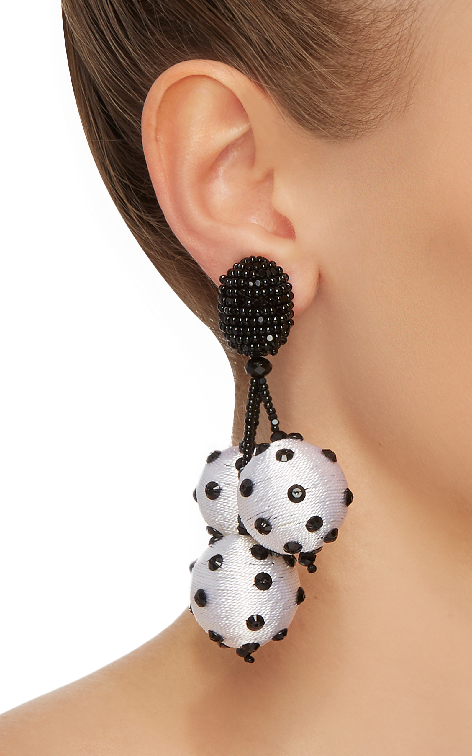 Triple Beaded Ball Earrings Oscar De La Renta AclVuzes