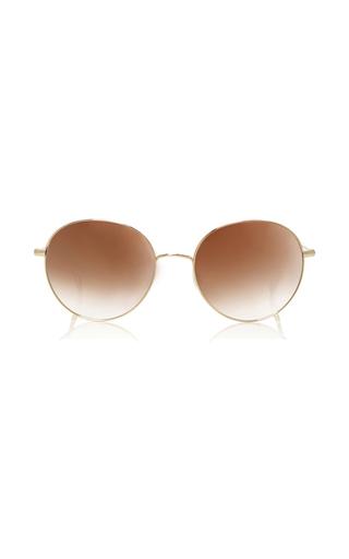 Medium garrett leight gold valencia 54 sunglasses