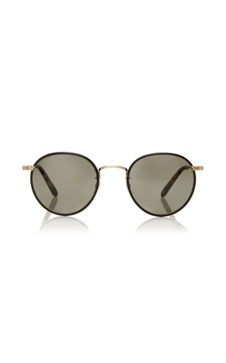 Medium garrett leight brown wilson 49 sunglasses