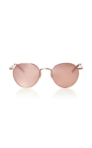 Medium garrett leight pink wilson m round frame sunglasses