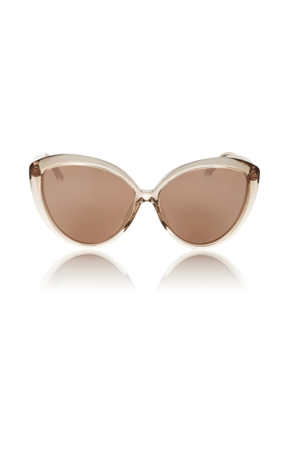Medium linda farrow light pink lucite cat eye sunglasses