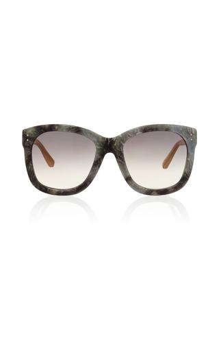 Medium linda farrow dark grey grey marble sunglasses