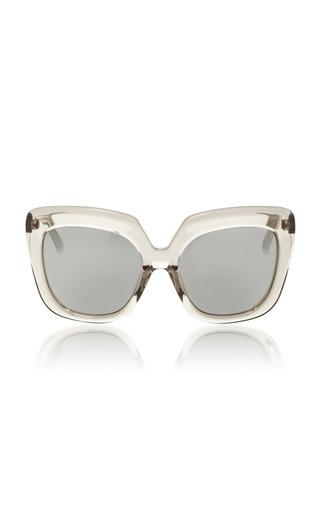 Medium linda farrow clear grey lucite sunglasses