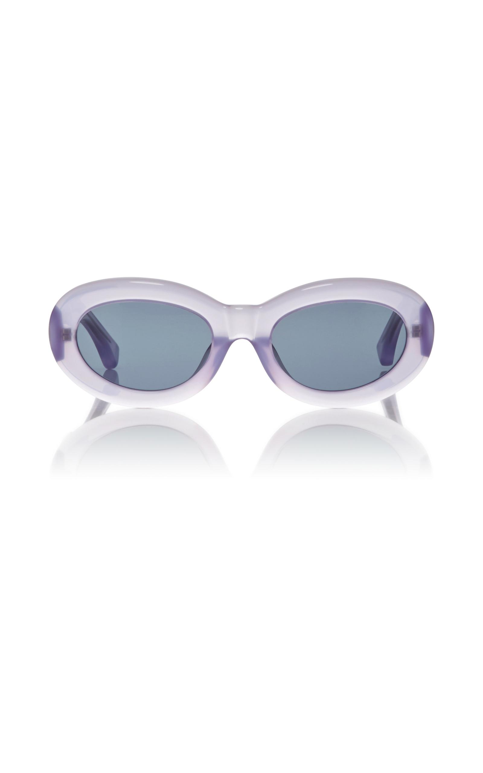 09bccea9e5e Dries Van NotenDries Van Noten Lilac Lucite Sunglasses. CLOSE. Loading
