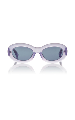 Medium dries van noten purple dries van noten lilac lucite sunglasses