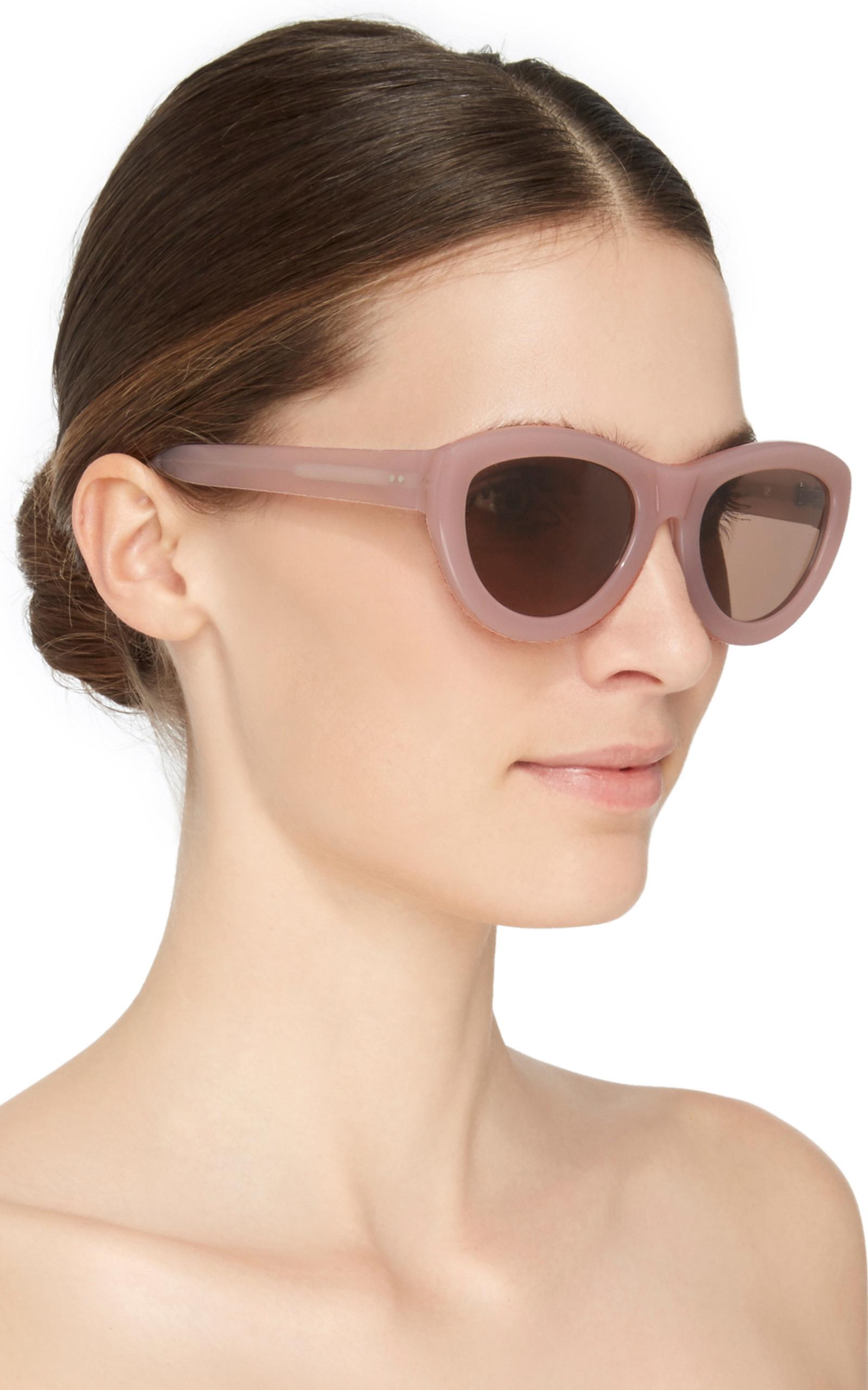 Dries Van Noten Pink Sunglasses Linda Farrow EKC1rzgl