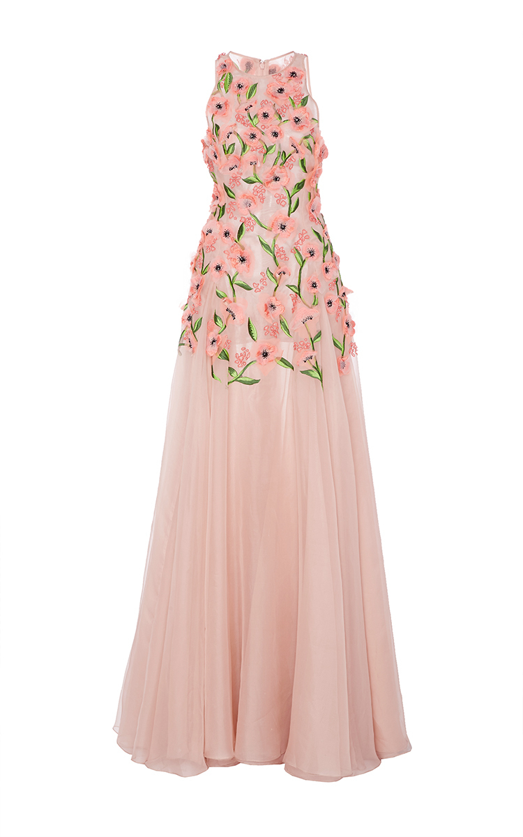 Floral Embroidered Gown by Lela Rose | Moda Operandi