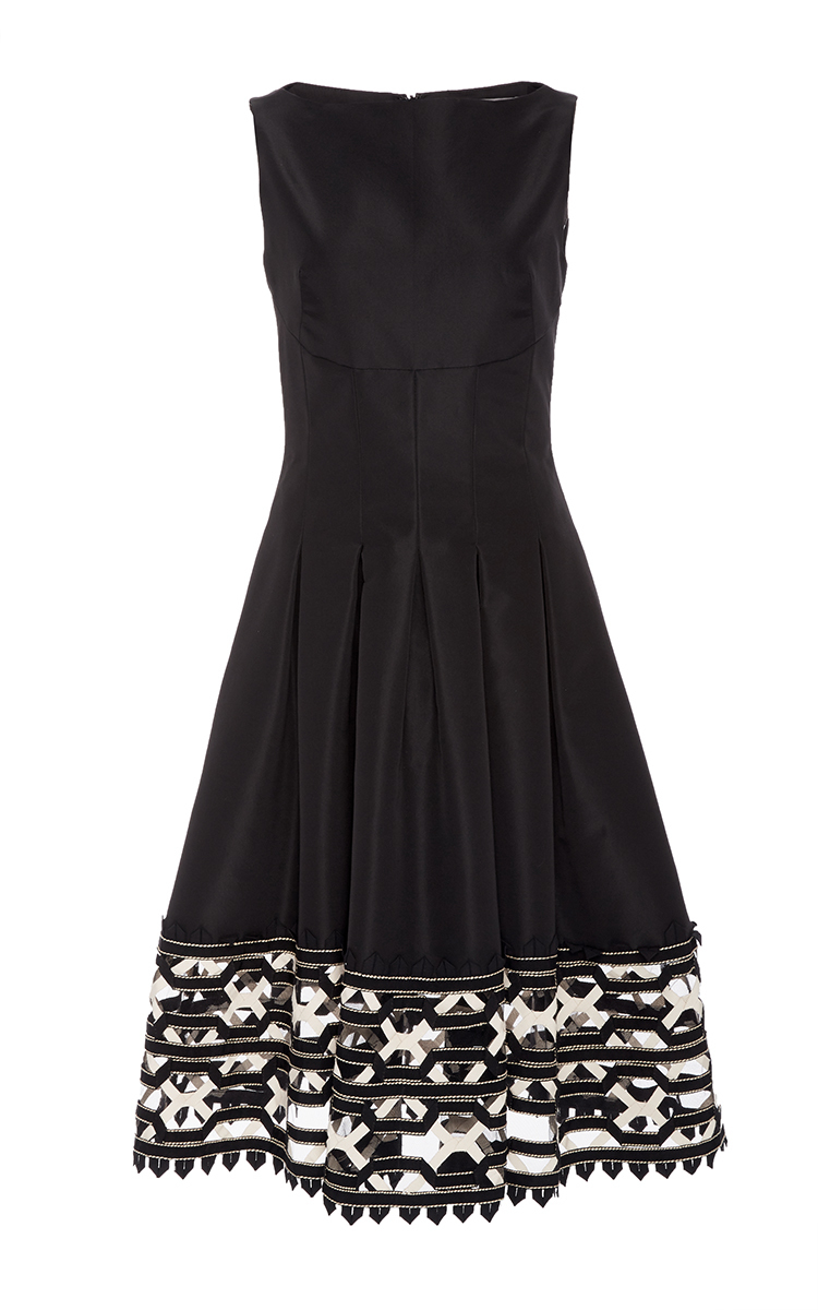 Ribbon Embroidered Hem Dress By Lela Rose Moda Operandi