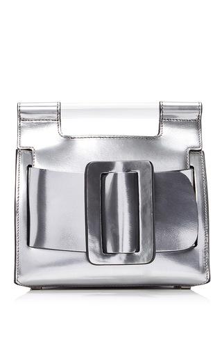 Medium boyy silver metallic romeo bag