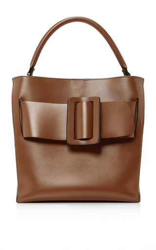 Medium boyy brown leather devon tote