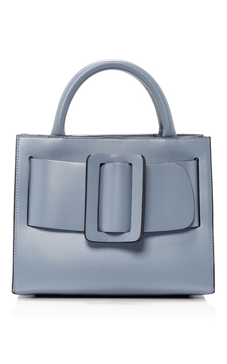Medium boyy blue leather bobby bag 23cm