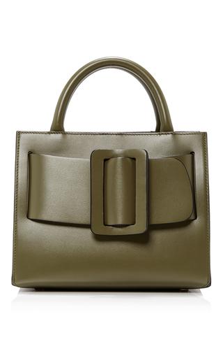 Medium boyy dark green leather bobby bag 23cm