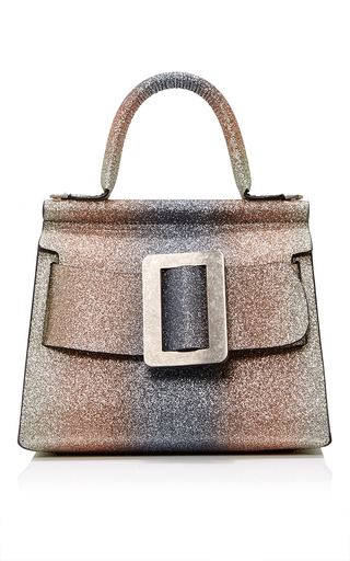 Medium boyy silver glitter degrade karl top handle bag 24cm