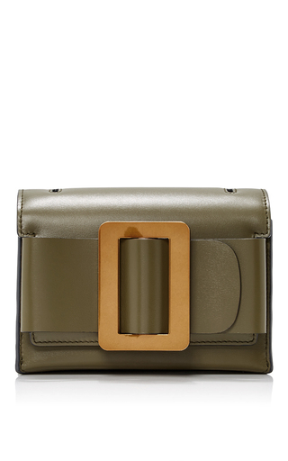 Medium boyy dark green fred clutch