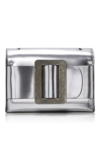 Medium boyy silver metallic fred clutch
