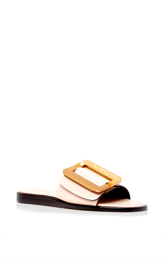 Medium boyy nude flat buckle slide