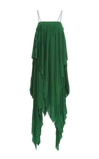 Medium acler green cedar pleat dress