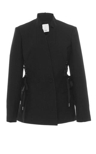 Medium acler black berman lace up blazer