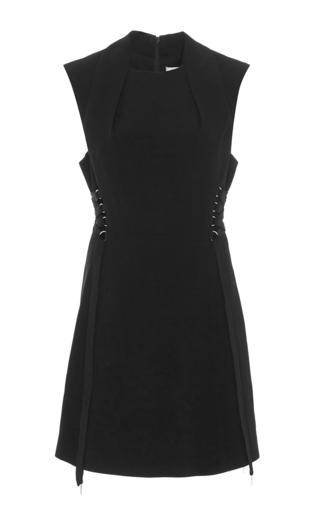 Medium acler black berman lace up dress