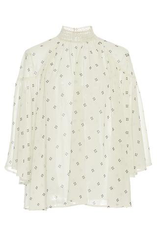 Medium acler print oxford high neck blouse
