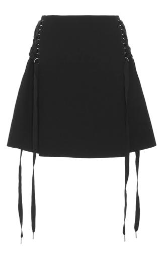 Medium acler black berman lace up skirt