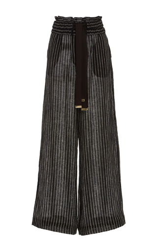 Medium acler stripe preston black striped wide leg pants