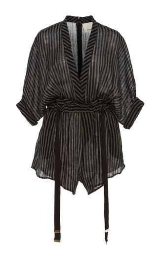 Medium acler stripe preston black striped romper