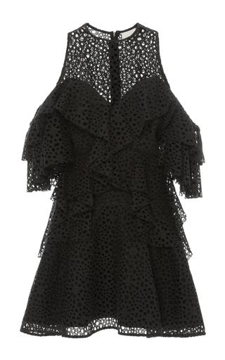 Medium acler black upton cold shoulder dress