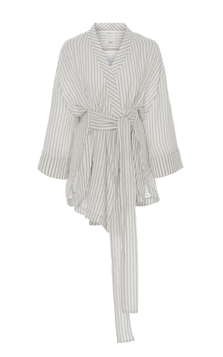 Medium acler stripe preston wrap shirt
