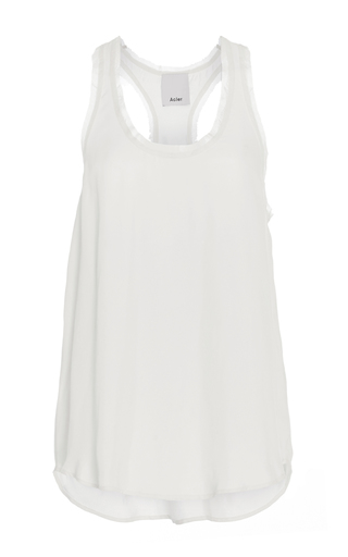 Medium acler white ashbury scoop neck tank