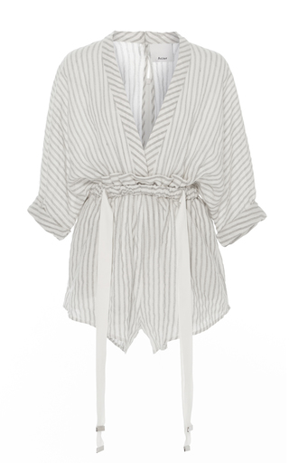Medium acler stripe preston ivory striped romper