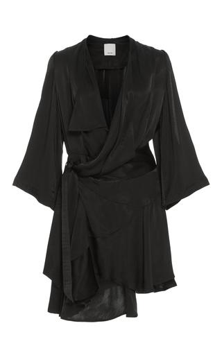 Medium acler black swindon wrap dress