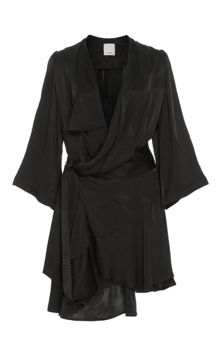 Medium acler black swindon wrap dress