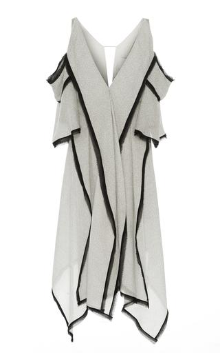 Medium acler light grey claremore cold shoulder dress