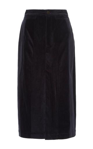 Medium acler navy aberdeen cord skirt