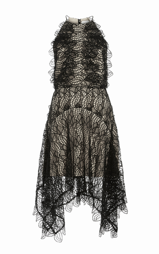 Medium acler black burton halter lace dress