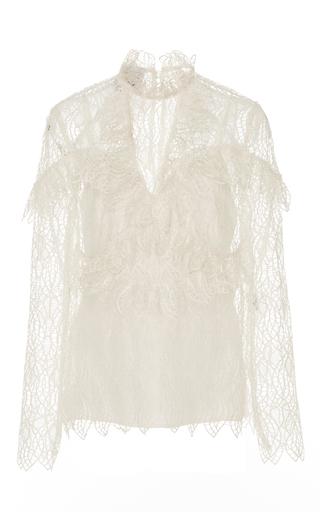 Medium acler white elan ruffled lace blouse 2
